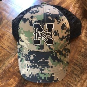 Other - Nebraska Huskers Camo Ball Cap Trucker Hat